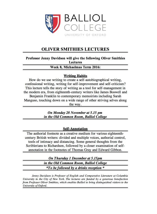 Jenny Davidson - O Smithies Lectures Ad MT 2016.jpg